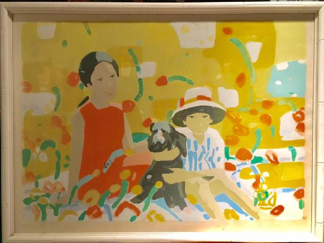 Pang Jen (China b. 1928) Limited Edition Serigraph