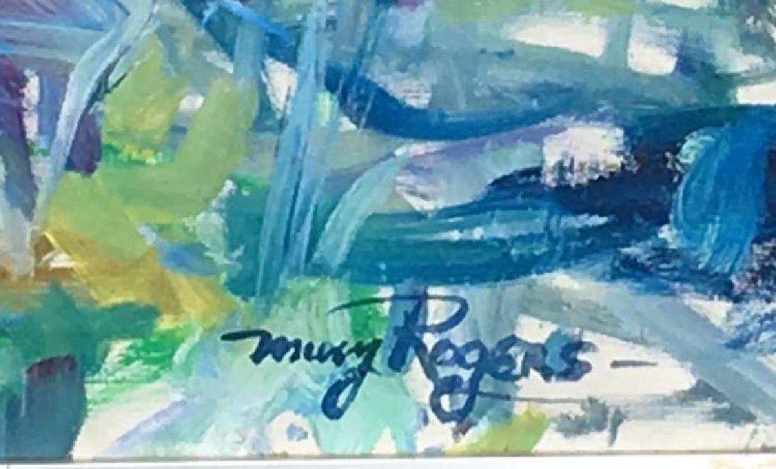Mary Rogers, (American), Oil on Canvas,Signed Abstract,