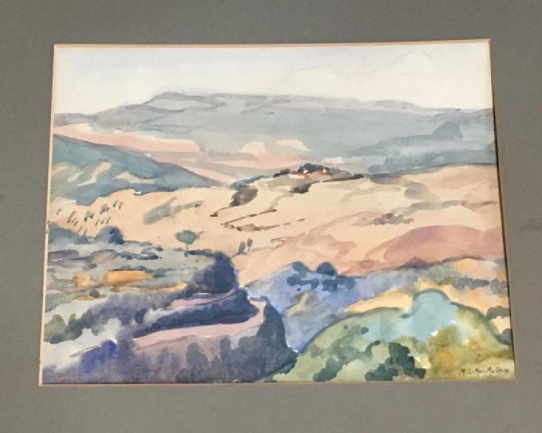 ca. 1930's-40's Landscape Watercolor Painting on Paper