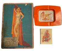 PinUp Girl Lot with Toy Exploding Joke Book