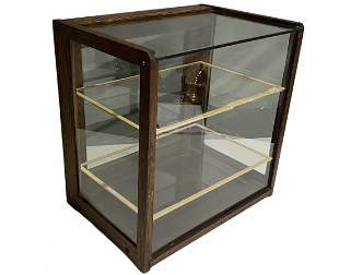Antique Oak Country Store Countertop Display Case