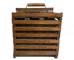 Ridgecrest Farms Wilton Maine Egg Carrier Box Crate