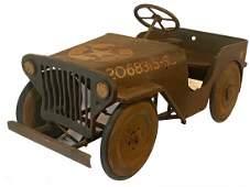 1940s WW2 Jeep Original Pedal Car