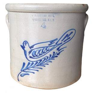 Norton Stoneware Crock Blue Bird Decoration
