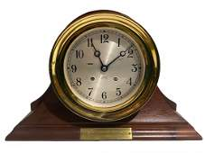 Chelsea Ship's Bell Clock, 6 Inch, Traditional Base