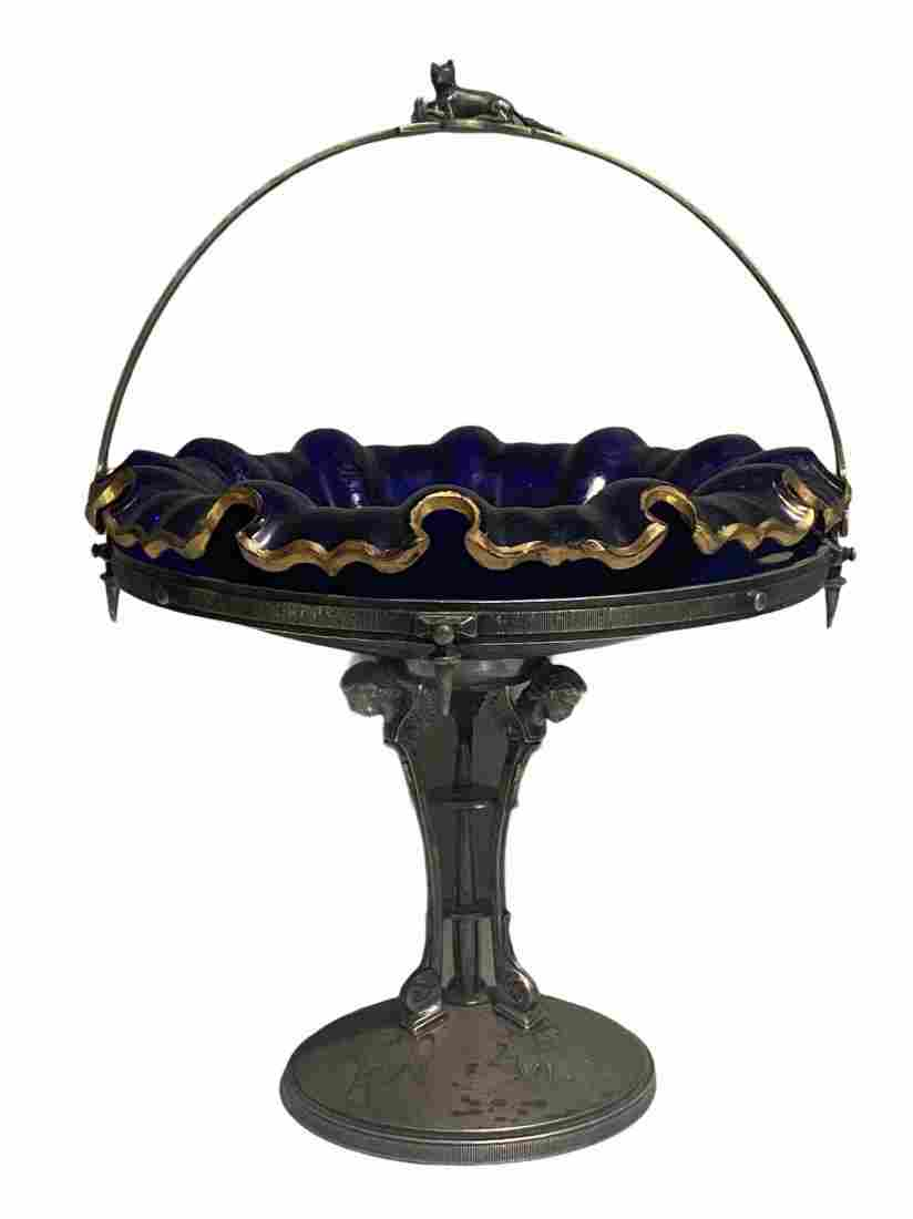 Victorian Aesthetic Movement Bride's Basket Compote