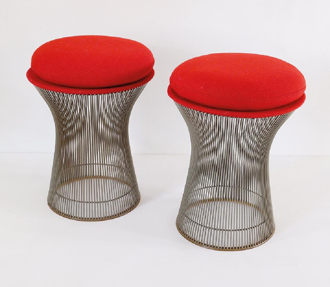 Warren Platner, Knoll International, 2 Hocker Mod. 1719