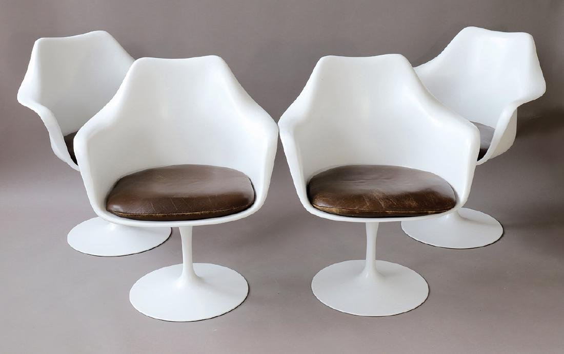 E.Saarinen, Knoll Intern., 4 Armlehnstuehle Tulip Mod.