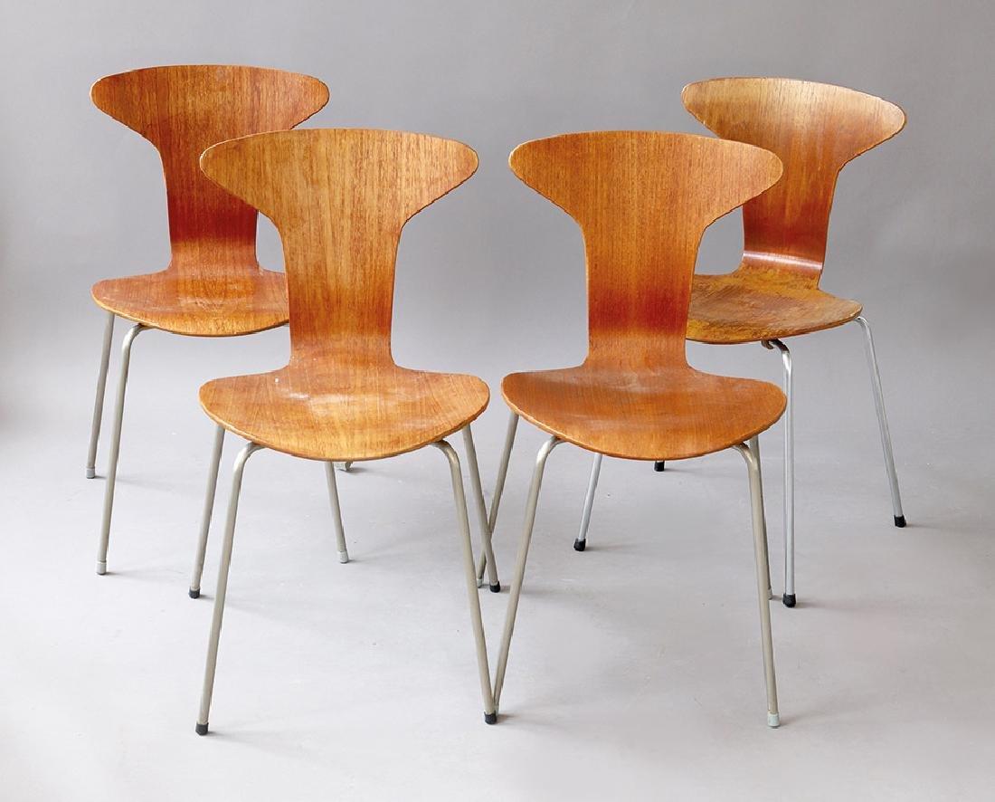 Arne Jacobsen, Fritz Hansen, 4 Stühle Mod. 3105