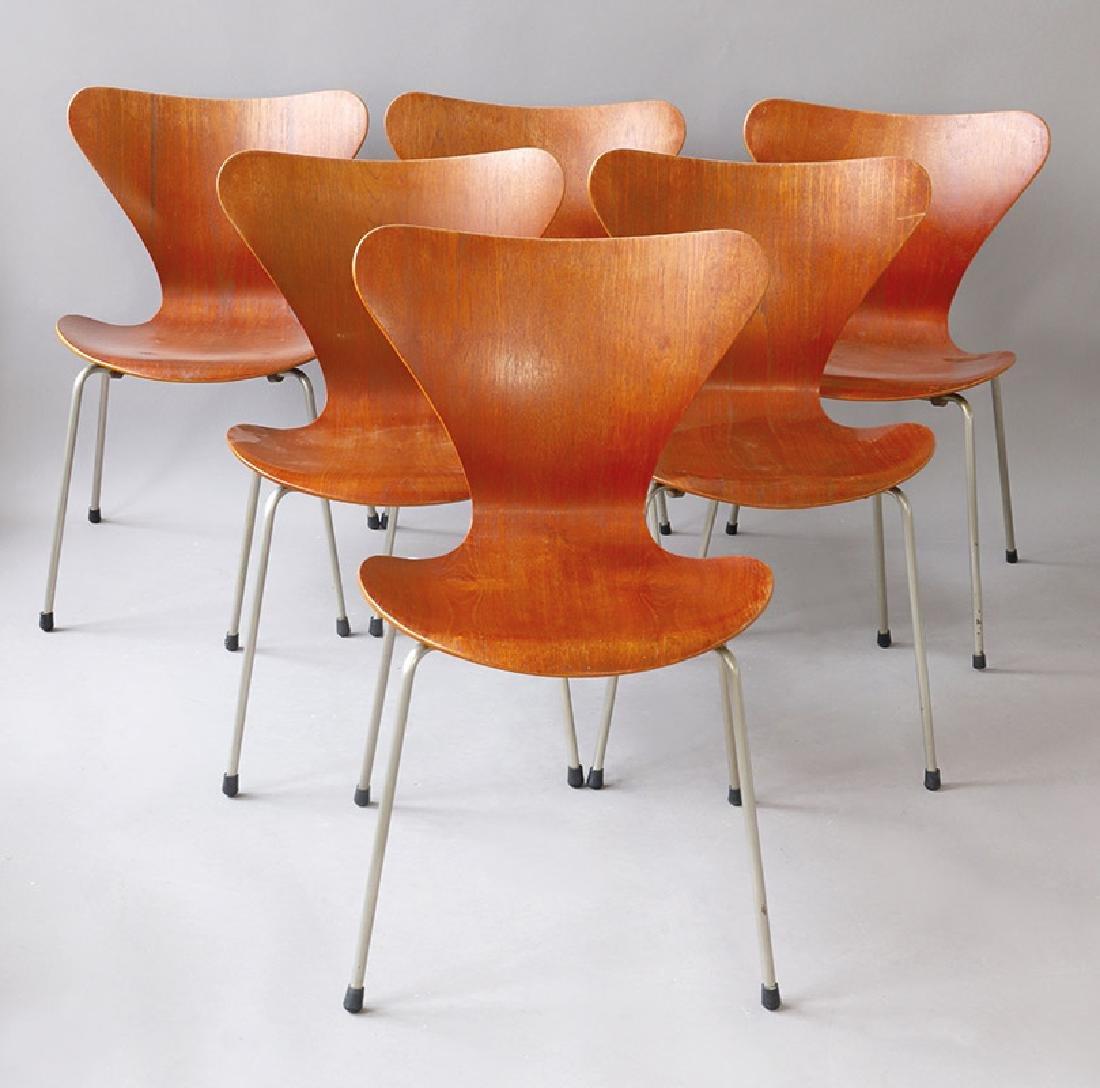 Arne Jacobsen, Hans Hansen, Kopenhagen, 6 Stühle Mod.