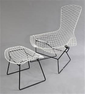 Armchair Bird 423 with stool 424 Harry Bertoia Knoll
