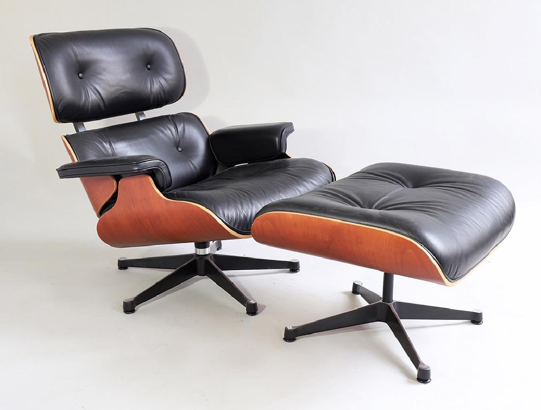 Lounge Chair with Ottoman Mod. 671 Ch. Eames Vitra