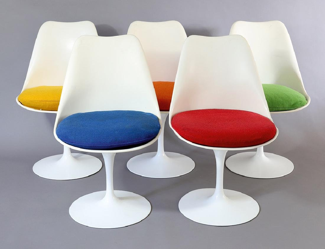 5 Chairs Tulip Mod. 151 E.Saarinen Knoll International