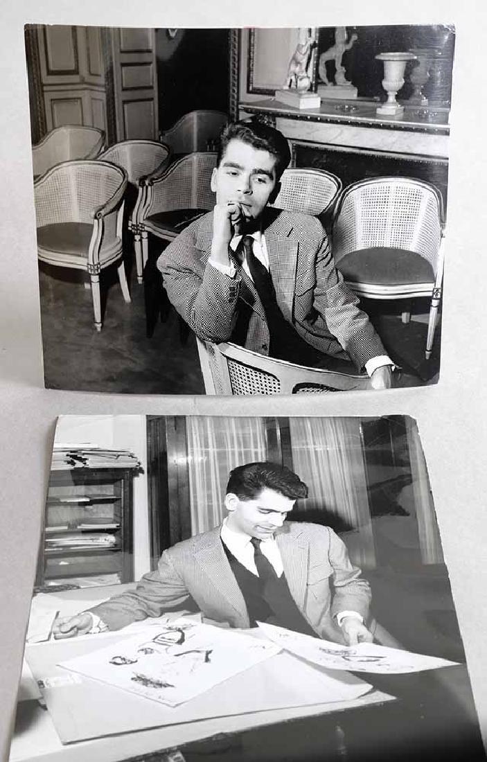 Tom Blau, 2 Photographs with Portraits Karl Lagerfeld