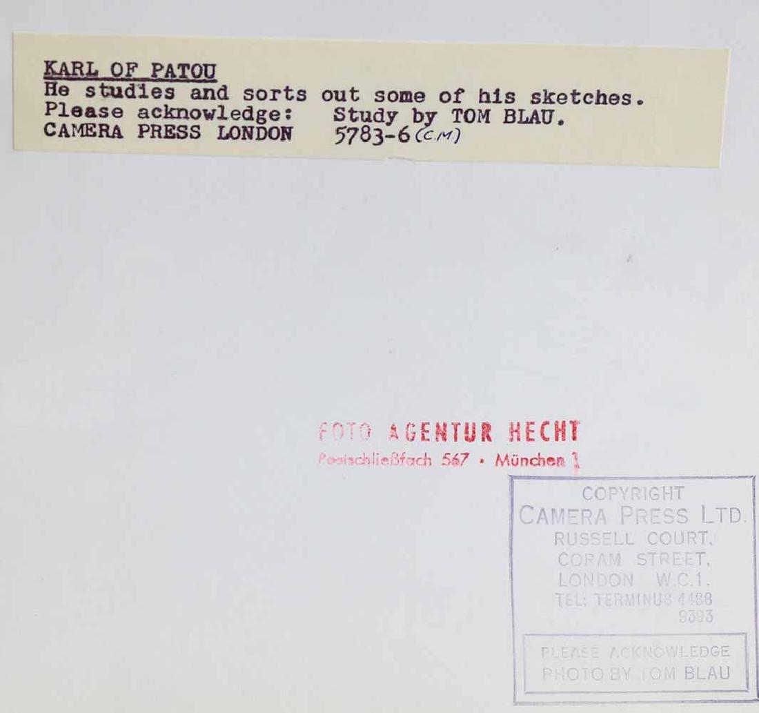 Tom Blau, 2 Photographs with Portraits Karl Lagerfeld - 2