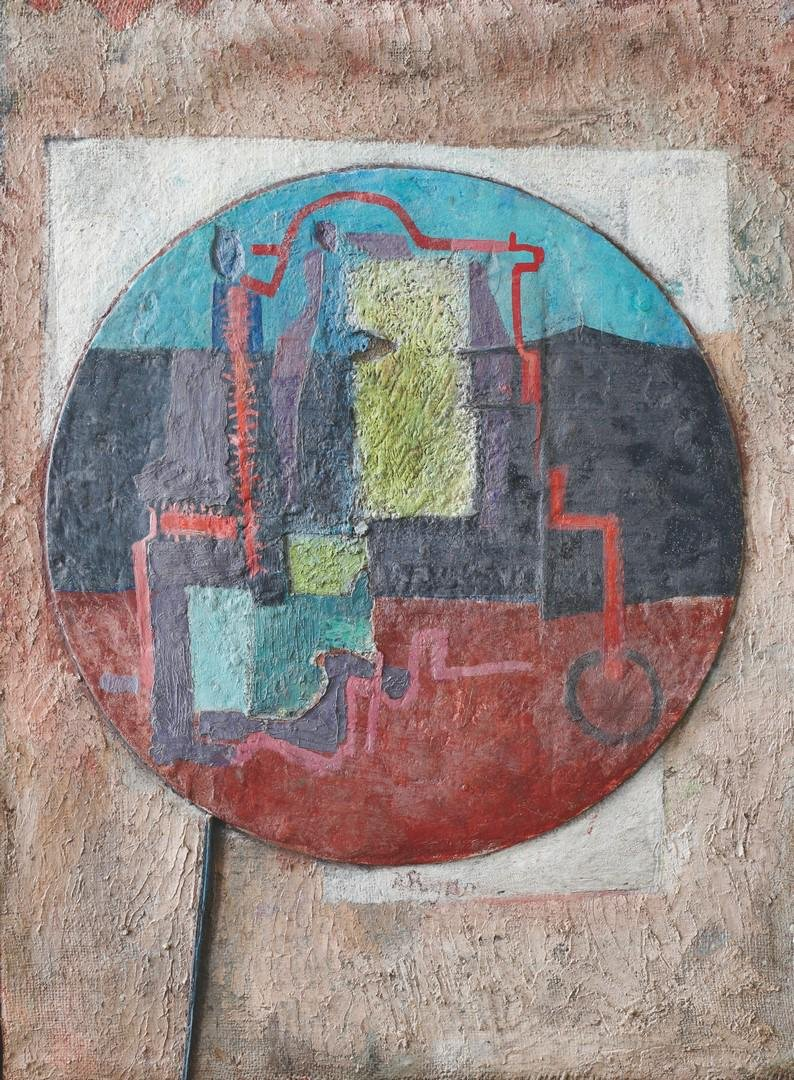 Anne Ryan, abstract composition, mixed media/ collage