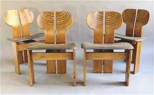 Afra & Tobia Scarpa, Maxalto, 4 Chairs Model Artona