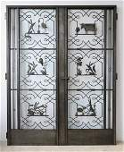 Edgar Brandt Double door wrought iron Aesop fables