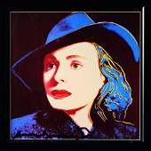 Andy Warhol, Herself Ingrid Bergman, signed