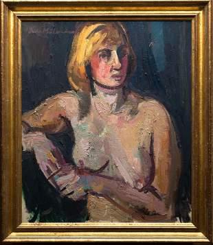 Bruno Müller-Linow, female nude, 1968