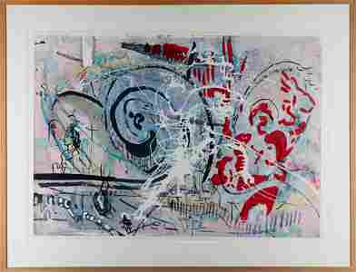 Sigmar Polke*, unique, Mixed Media on cardboard