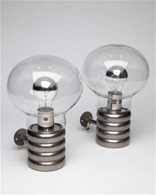 Ingo Maurer, Design M, 2 Wall Lamps Bulb