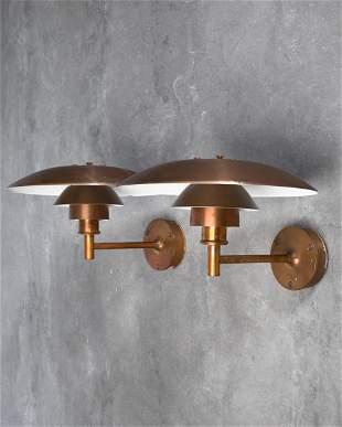 P. Henningsen L. Poulsen 2 exterieur Wall Lamps PH