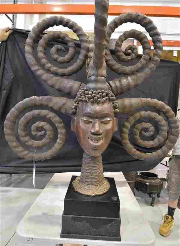 Ekoi Ceremonial Headdress, Nigeria