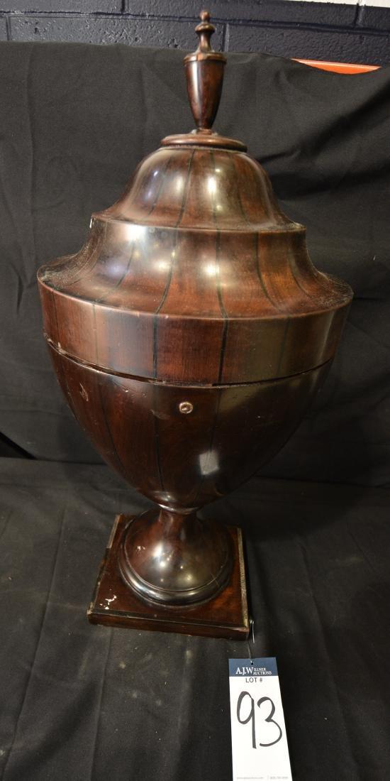 Inlaid Mahogany Cutlery Urn
