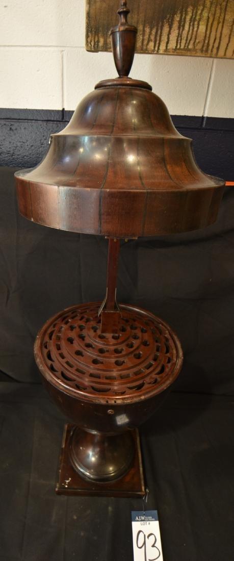 Inlaid Mahogany Cutlery Urn - 2