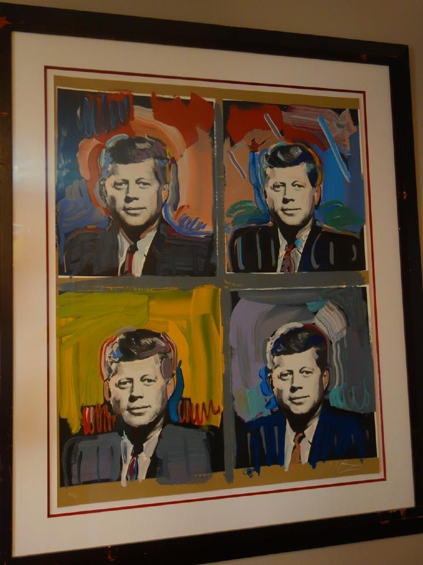 "Peter Max Lithograph ""JFK"""