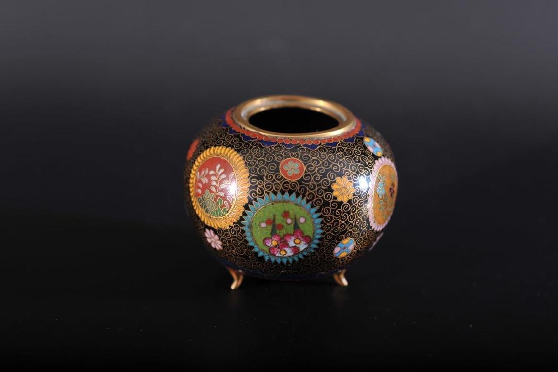 Japanese cloisonne jar