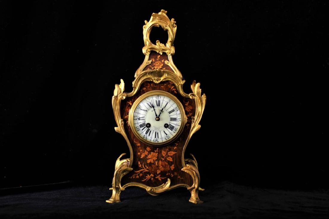 French rococco style ormolu mounted and marquetry