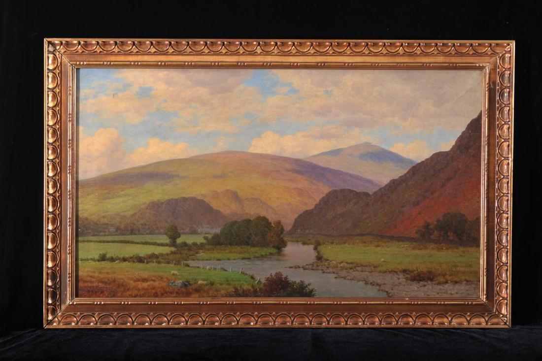 Alfred de Breanski,  Scottish landscape, oil on canvas