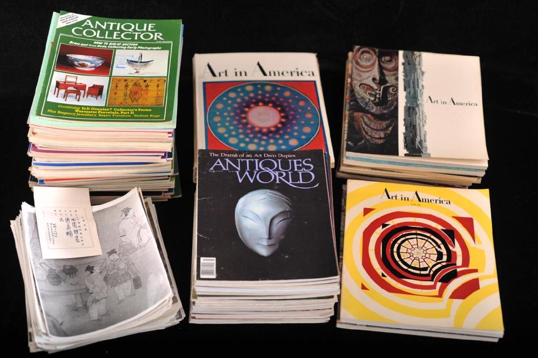 """Collection of 17 """"Antiques World"""" magazines, 15 """"Art in"""