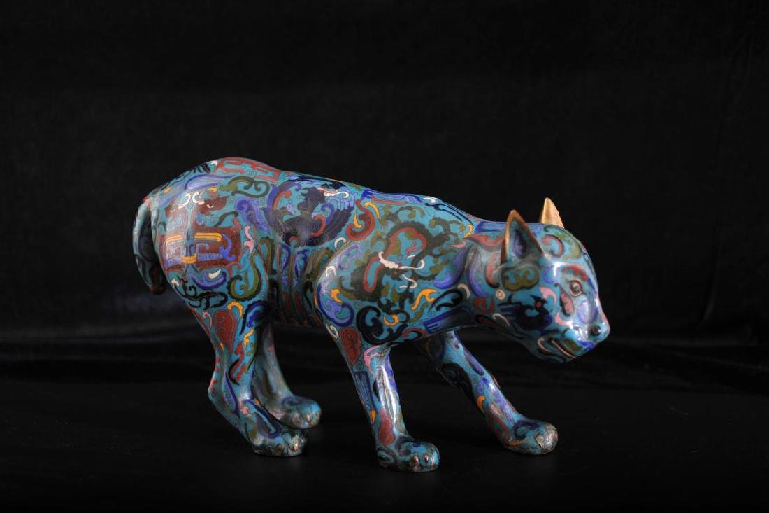 Chinese cloisonne cat