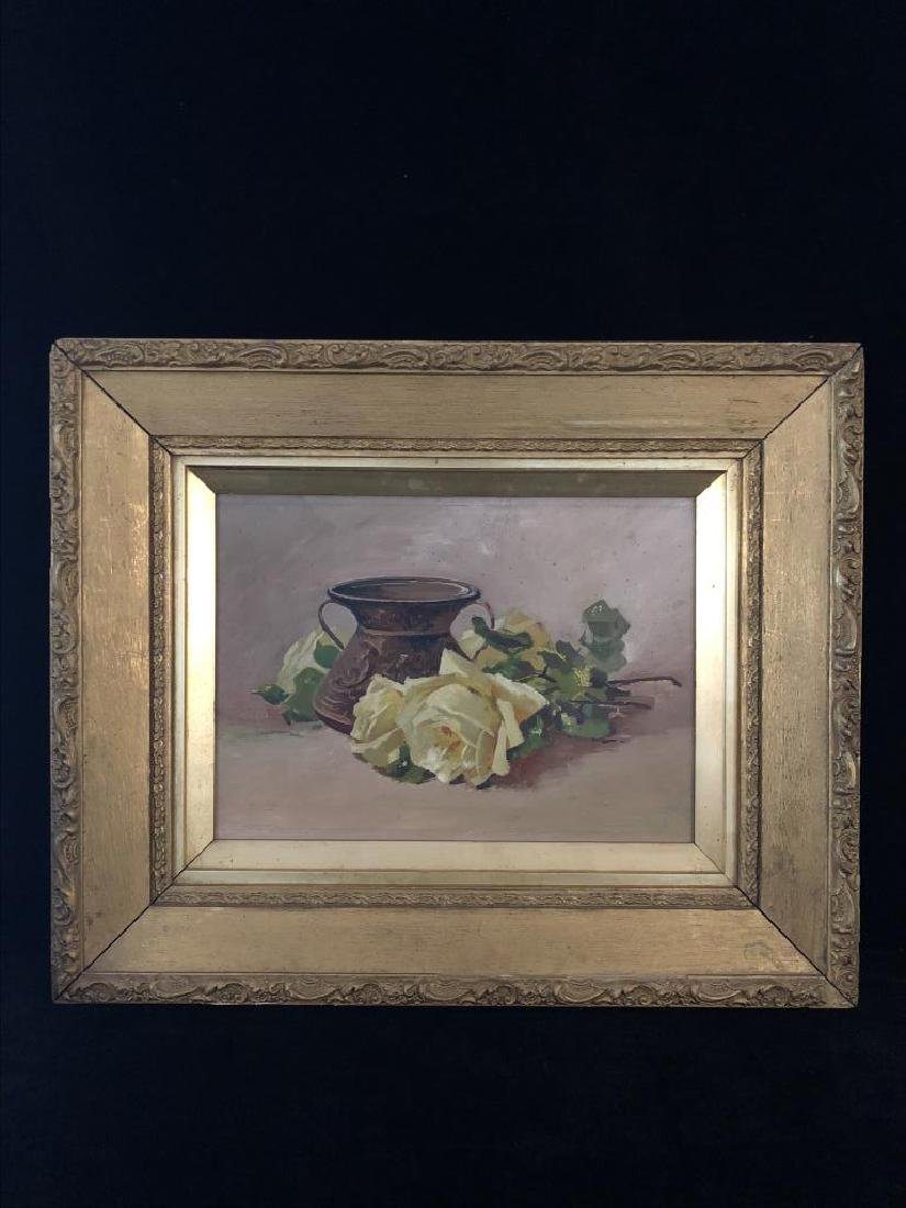 Late 19th early 20th century Still life, oil on panel,