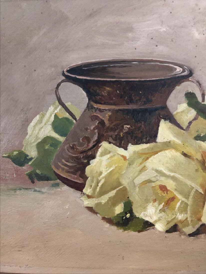 Late 19th early 20th century Still life, oil on panel, - 2