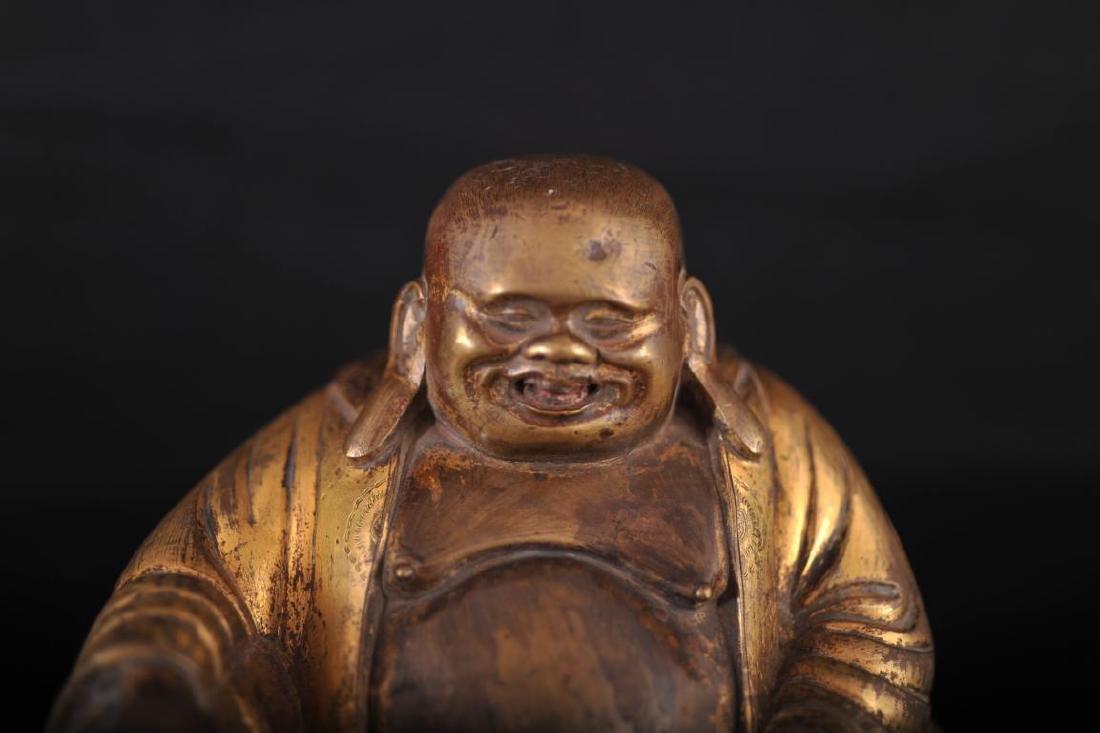 Gilt bronze buddha - 6