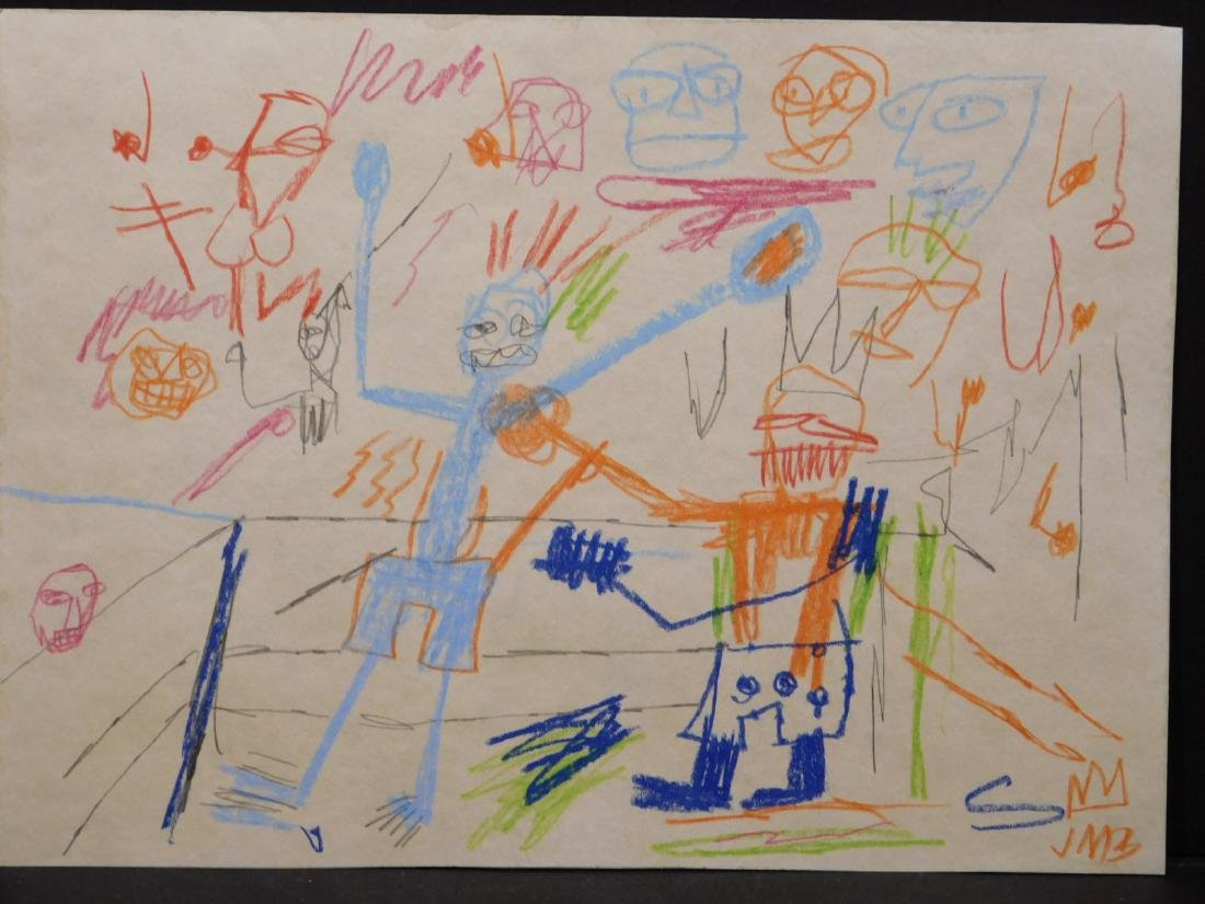 Manner of Jean Michel Basquiat: Untitled Drawing - 2