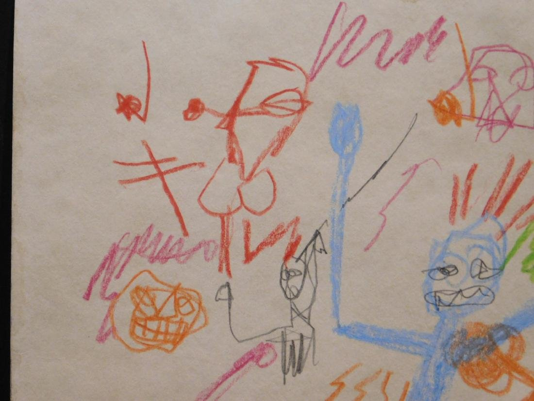 Manner of Jean Michel Basquiat: Untitled Drawing - 5