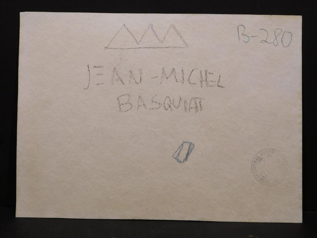 Manner of Jean Michel Basquiat: Untitled Drawing - 9