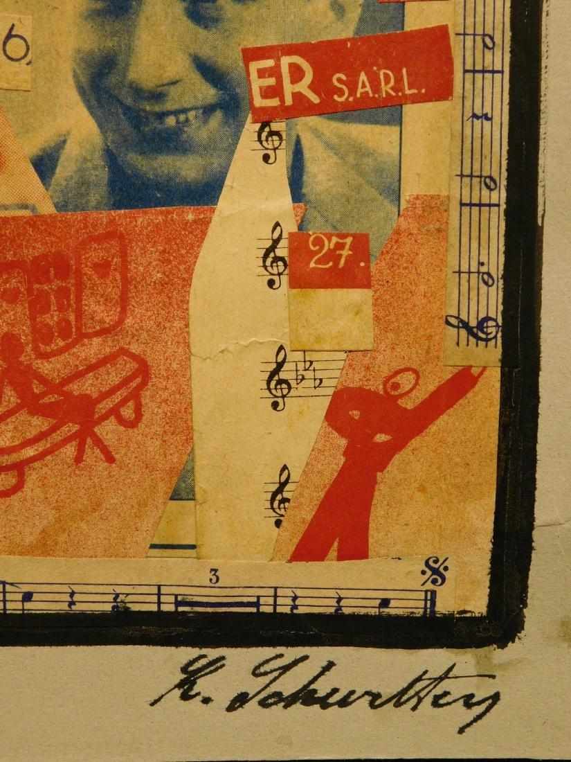 Manner of Kurt Schwitters: Collage on Heavy-weight Grey - 5