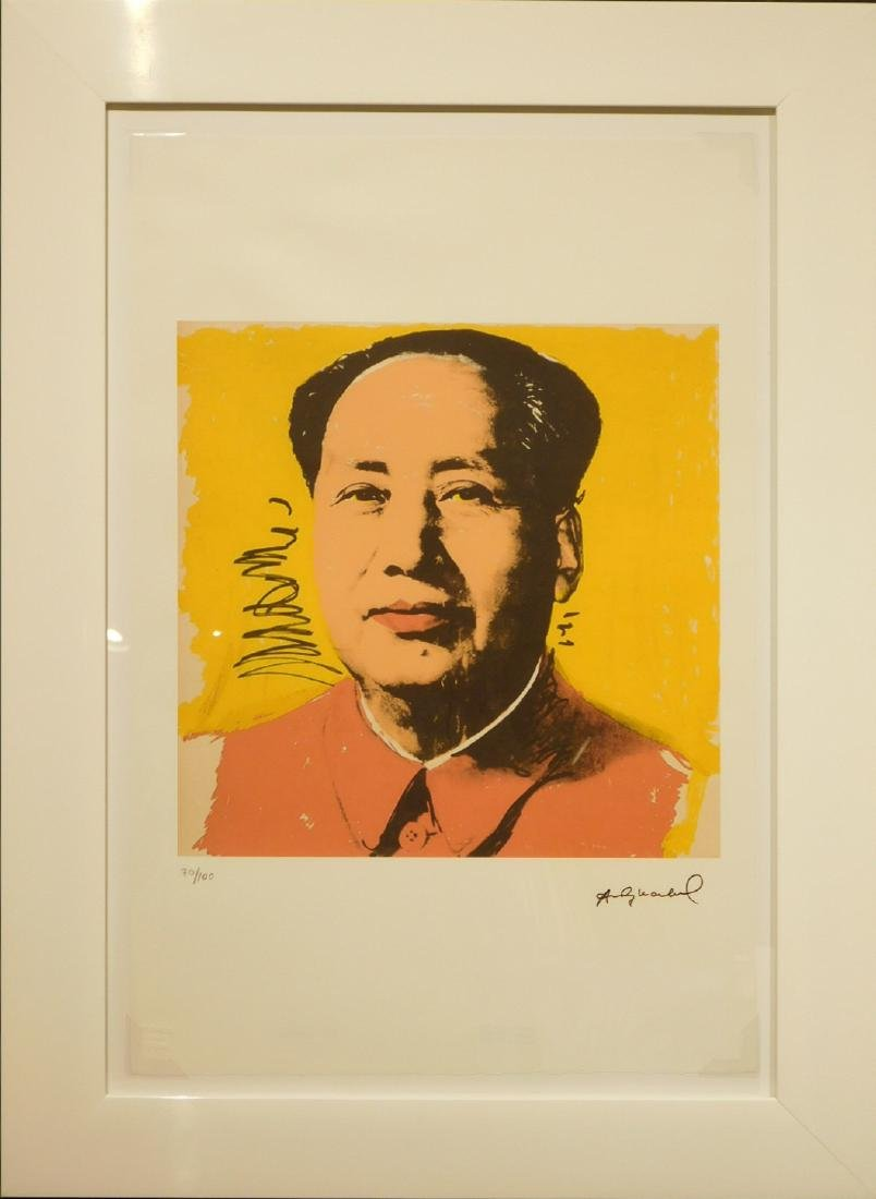 Manner of Andy Warhol: Mao (yellow)