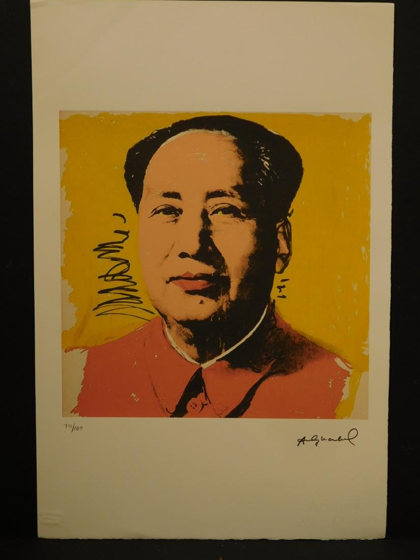 Manner of Andy Warhol: Mao (yellow) - 3