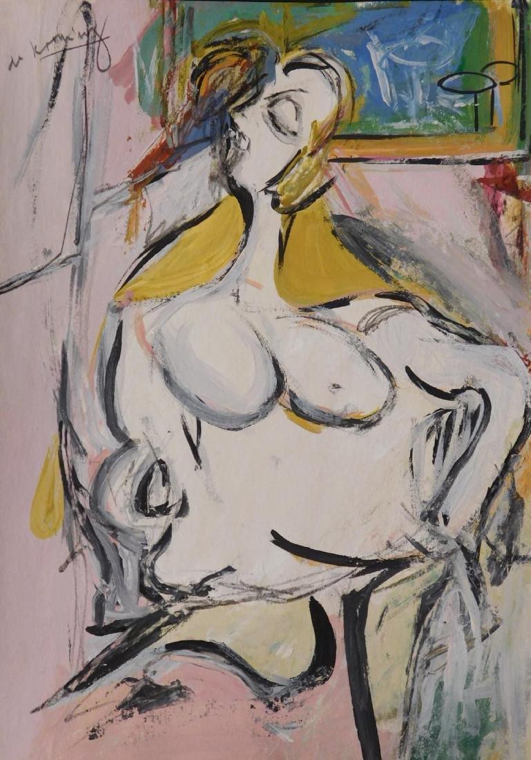 Manner of Willem de Kooning: Nude Woman