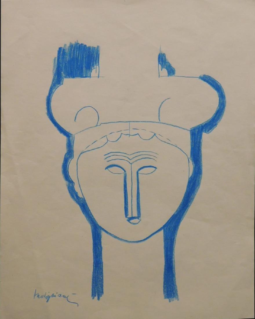 After Amedeo Modigliani: Tete de Cariatide