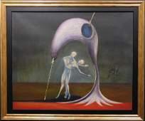 Manner of Salvador Dali: Surreal Landscape with Figures