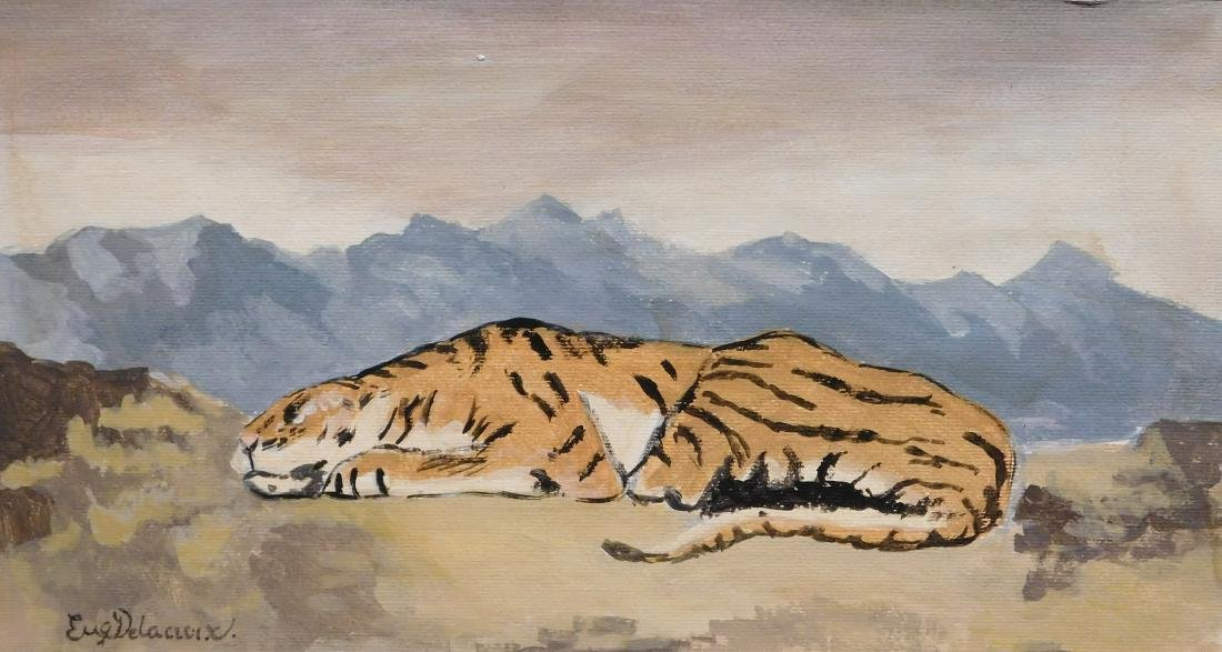 Manner of Eugene Delacroix: Tiger