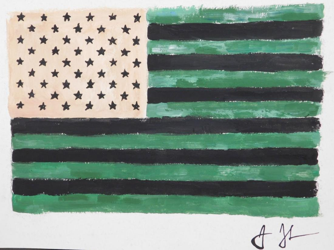 Manner of Jasper Johns: American Flag